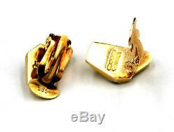 14 Karat Gold Ear Clips by Lapponia Design Björn Weckström c. 1989 Finland