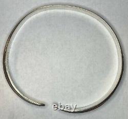 1960s Vintage David Andersen Saga Sterling Silver 925S Viking Bangle Bracelet