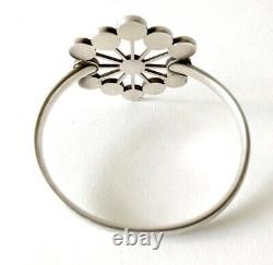 1970s Astrid Fog Georg Jensen Danish Modern Sterling Enamel Bangle Cuff Bracelet