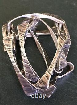 1970s Scandinavian Modernist Sterling Silver Bracelet Jensen Quality