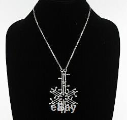 1972 Modernist Kultateollisuus Ky Turku Finland 830H 830 Silver Pendant Necklace