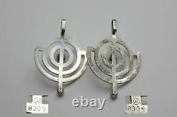 1PC Norwegian Silver'Planet' Pendant Willy Winnaess Mid-Century Modern Jewelry