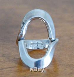 ANA GRETA EKER Norway STERLING SILVER 925S Modernist Size 6.5 RING AGE