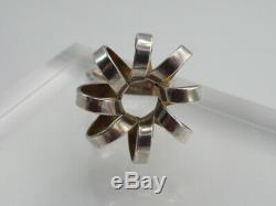 ANNA GRETA EKER Norway BUZZ SILVER 925S Modernist Ring Sz 5.5 No AGE Plus +