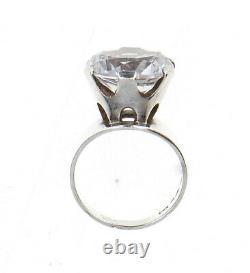 A Gustav Dahlgren & Co 1969 silver & rock crystal ring Vintage Scandinavian