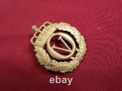 Aksel Holmsen, King Olav V Palace Guard Pin Hat Badge Norwegian King Rare Norway