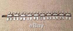 Aksel Holmsen Norway Vintage Sterling Silver & White Enamel Serpent Bracelet