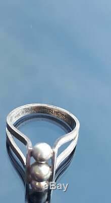 Aksel Holmsen Norway sterling silver ring vintage scandinavian 1960s-70s