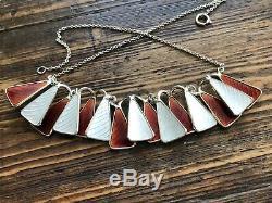 Aksel Holmsen Sterling Silver Enamel 925 Necklace Norway Norwegian
