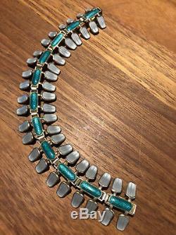Aksel Holmsen Sterling Silver enamel bracelet Norway Norwegian