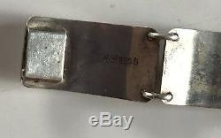 Albert Scharning Norway Vintage Modernist Sterling Silver Bracelet