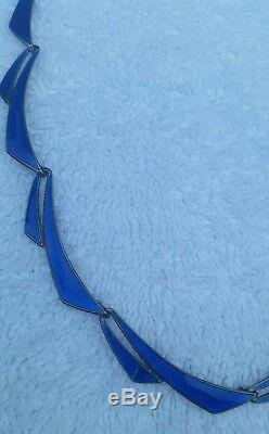 Albert Scharning Sterling Silver Enamel Necklace Norway Norwegian BEAUTIFUL