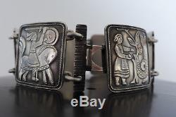 Amazing David Andersen Vintage Sterling Silver Fairy Tale Link Bracelet Norway8