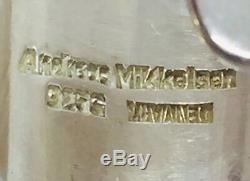 Andreas Mikkelsen Denmark Vintage Modernist Sterling Silver Double Finger Ring