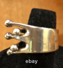 Anna Greta Eker Norway 925 Sterling Silver Modernist MCM Ring Sz. 6.5
