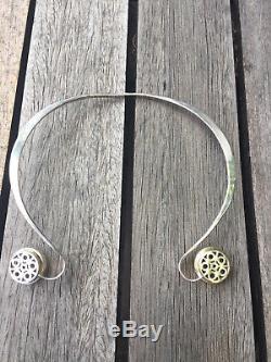 Anna Greta Eker Norway Designs Necklace Neckring Sterling Silver Norwegian