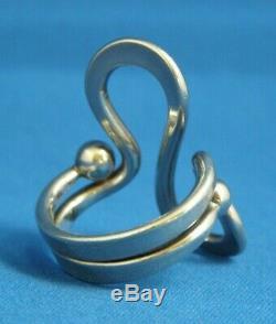 Anna Greta Eker Norwegian Modernist S 925 Sterling Ring Size 9