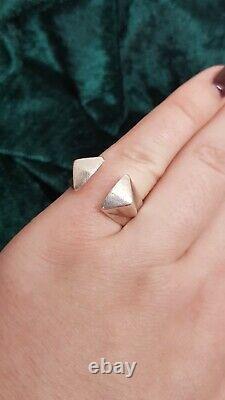 Anna Greta Eker Vintage Norvegian Modernist Sterling Silver ring