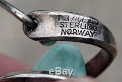 Anna Greta Eker Vintage Sterling-Amazonite Necklace-ChokerMinimalist-Modernist