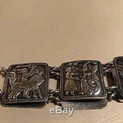 Antique David Andersen Fairytale 830s Silver bracelet Norway Norwegian