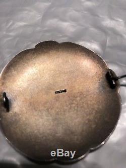 Antique David Andersen Sterling Enamel Pin Back Brooch Norway