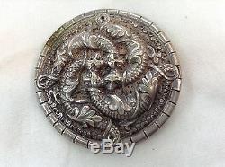 Antique Henrik Moller Trondheim 830 Silver Brooch Pin NORWAY