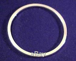 Antique Sophisticated Simplicity Georg Jensen Denmark Heavy Slim Bangle Bracelet
