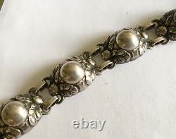 Antique Vintage Sterling Denmark Georg Jensen Bracelet #57B