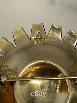 Anton Michelsen Enamel Daisy Flower AM Sterling Silver Denmark 925 S RARE suite