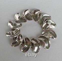 Anton Michelsen Gertrude Engel Rougie Danish Silver Modernist Bracelet Denmark