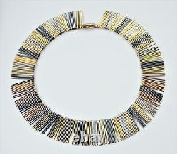 Anton Michelsen Sterling Silver Fringe Necklace Modern Scandinavian AM Sterling