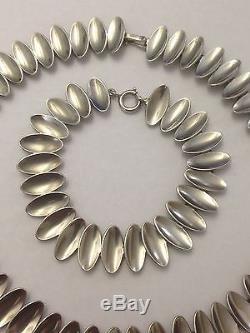 Anton Michelsen Sterling Silver Necklace and Bracelet designed by Nanna Ditzel