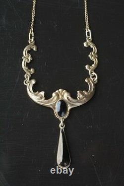 Arne Nordlie Antique Vintage Norwegian Sterling Silver and Enamel Necklace