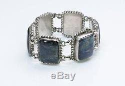 Art Nouveau Georg Jensen Labradorite 830 Silver Bracelet 25 B