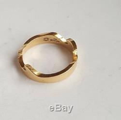 Authentic Georg Jensen Fusion Ring 18k Yellow Rose & White Gold w Diamond 18.7gr