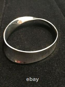 Authentic Georg Jensen Sterling Silver Bangle Bracelet 206