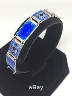 Bernard Meldahl Sterling Silver enamel bracelet Norway Norwegian