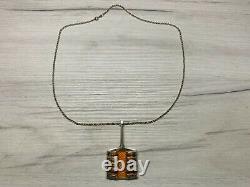 Bjorn Sigurd Ostern David Andersen Sterling Silver Enamel Pendant Necklace