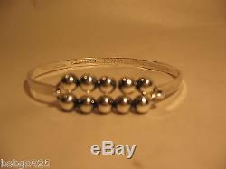 Bracelet E. Erik Granit & Co Sterling Silver 916 H Finland Beaded Beads Bangle