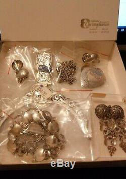 Collection of Norwegian bunad silver jewelry from Sandnes Rogaland 1980s