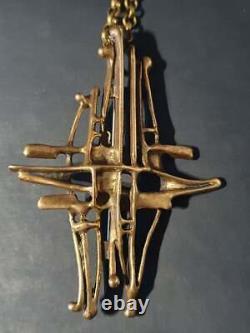 DAVID ANDERSEN Norway Bronze pendant / brooch UNI D-A, Unn Tangerud DESIGN