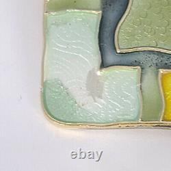 DAVID ANDERSEN Sterling Enamel Four Seasons Summer Pin/Earring Set