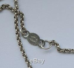 Danish 2010 Georg Jensen Silver 925s Sphere Necklace # 473B w Grey Moonstone