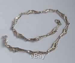 Danish 50's Henry Andersen Silver 925s Modernist Links Necklace