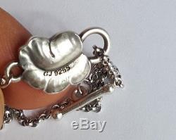 Danish Georg Jensen Silver 925s MOONLIGHT GRAPES Pendant w PEA Chain