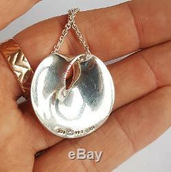Danish Georg Jensen Silver 925s Möbius Pendant Necklace #374 By Vivianna Torun