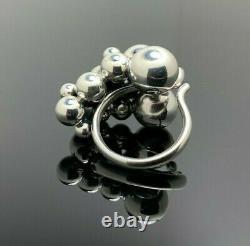 Danish Georg Jensen Sterling Silver Ring MOONLIGHT GRAPES, LARGE