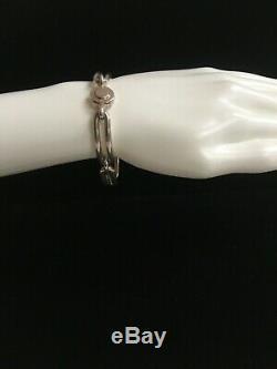 Danish Modern Neils Erik From Classic Sterling Silver Rectangular Link Bracelet