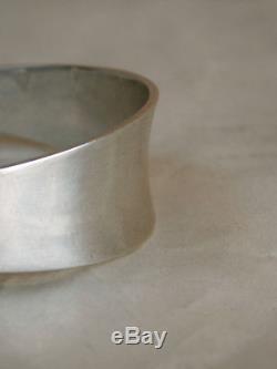 Danish Modern Vintage HANS HANSEN Sterling Silver CUFF BRACELET Denmark 34g