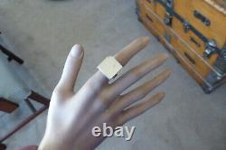 Danish Modernist 925 S Sterling Cube Ring By Aj Arne Johansen Ring Size 5.75